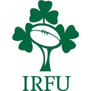"Ireland Rugby.  ""...shoulder to shoulder, we'll answers Ireland's Call..."""