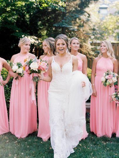 Pink Bridesmaid Dresses Bright Pink Bridesmaid Dresses With High Necklines Baby Pink Bridesmaids Dresses Bridesmaid Dress Pink Shades Pink Bridesmaid Dresses