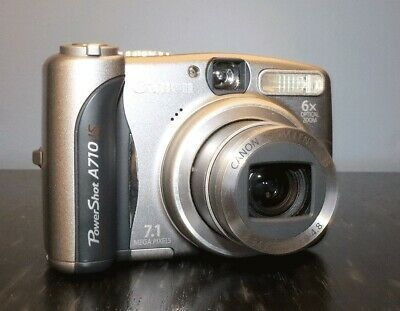 Canon Powershot A710 Is 7 1mp 6x Zoom Digital Point And Digital Camera Powershot Canon Powershot