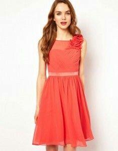 Vestido Color Coral Vestidos De Fiesta Elegantes Vestidos