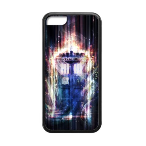 Doctor Who TARDIS Burning Light Case for iPhone 5c