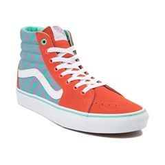 Vans Sk8 Hi Chex Skate Shoe   Sneakers