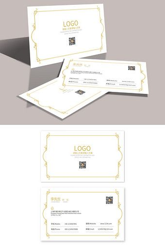 Simple European High End Corporate Business Card Template Design Psd Free Download Pikbest Corporate Business Card Business Card Template Design Business Card Template
