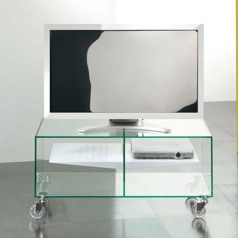 Porta Tv Lcd Vetro.Carrello Porta Tv Lcd In Vetro Ebox 90 X 40 Cm Ebox E Un Prodotto