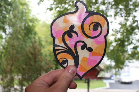 Silhouette America Blog   Tissue Paper Stained Glass Windows   Fall Kids Craft