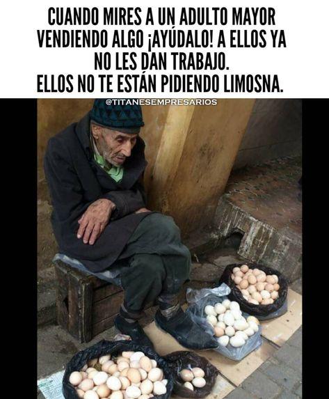 Ayudemos a nuestros adultos mayores que siguen trabajando día a día ♥️ . . #titanesempresarios #emprendedor #Empresario #ejemplodevida…