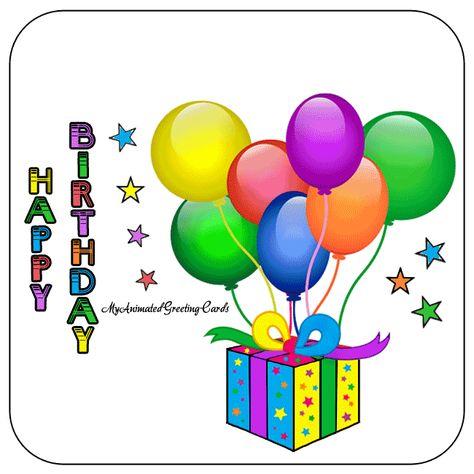 Animated Happy Birthday Myanimatedgreetingcards Com Happybirthday Birthdaywishes Animated Birthday Cards Happy Birthday Cards Free Happy Birthday Cards