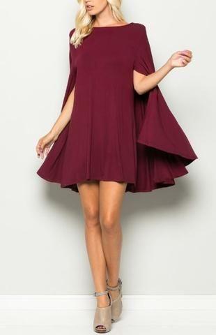 cape dress | description: ***mini cape dress*** fabric