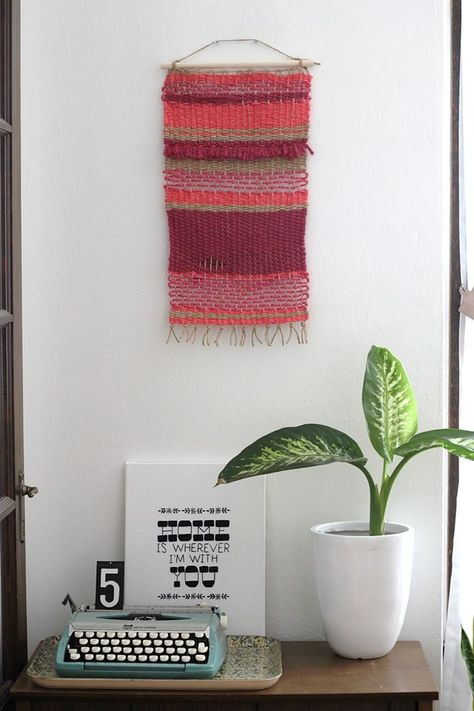 Woven Wall Hanging DIY on Smile and Wave