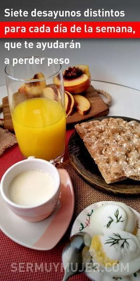 Ideas de desayunos para bajar de peso