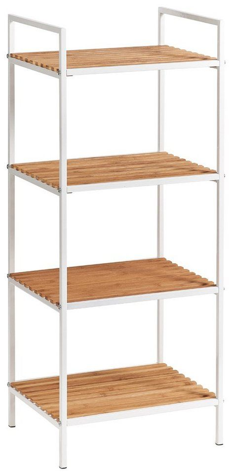 Zeller Regal Standregal 4 Boden Bamboo Metall Weiss Online Kaufen Shop Interiors Home Decor Shelves