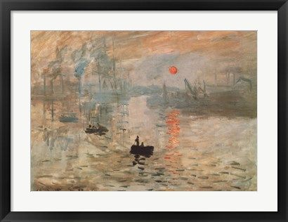 ART PRINT Impression Sunrise green by Claude Monet