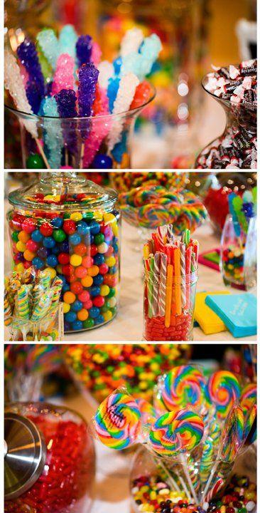 Candy bar at our reception. dhpstudio.com