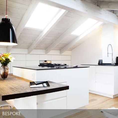 Top 22 ideas about Küchen on Pinterest Bespoke, Stockholm and - küche mit schräge