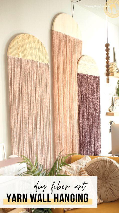 3 ways to create a fiber art wall hanging diy with yarn » NEVER SKIP BRUNCH