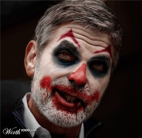 Evil Celebrity Clowns 8 - Worth1000 Contests. Evil George Clooney