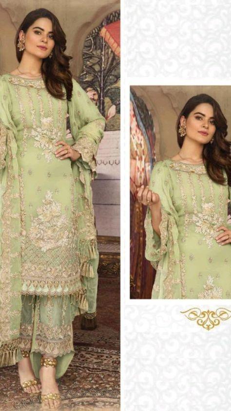 Beautiful embroidery pakistani salwar kameez🤍