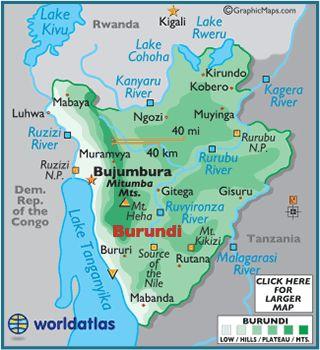Map Of Burundi Burundi Africa Map Map