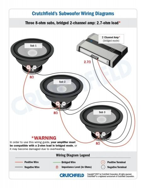 crutchfield wiring diagram  subwoofer wiring car audio