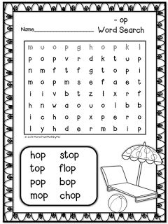 More Than Math By Mo May 2013 Word Families Word Puzzles For Kids Cvc Words Kindergarten