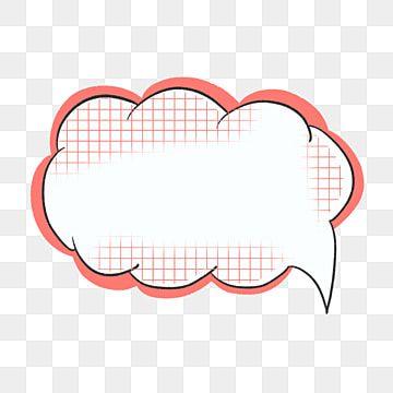 كرتون مربع حوار سحابة بسيطة كرتون جذاب الحوار Png وملف Psd للتحميل مجانا Sticker Design Cartoon Wallpaper Cartoon