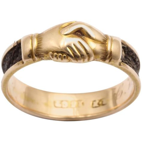1stdibs 15K Gold Memorial Fede Ring Victorian