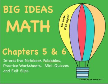 Big Ideas Math Foldables For Chapters 5 And 6 Big Ideas Math Math Foldables Math