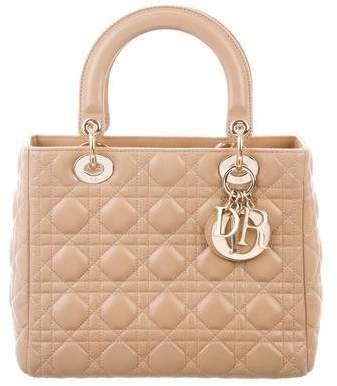 Medium Lady Dior Bag W Strap Lady Dior Dior Bags