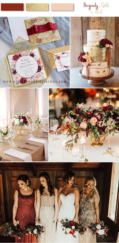8 Stunning Fall & Winter Wedding Color Combos with Burgundy