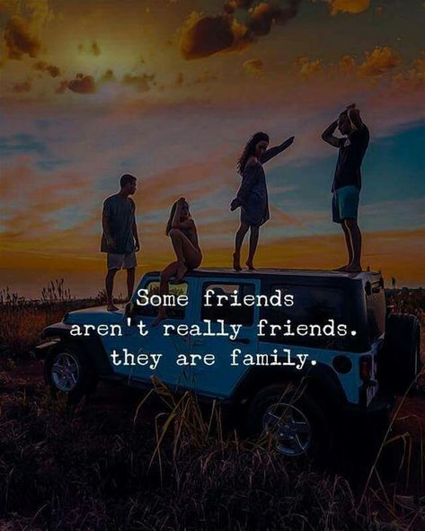 Some friends aren't really friends. They are family. #Friendshipquotes #Truefriendshipquotes #Loyalfriends #Fakefriends #Quotes