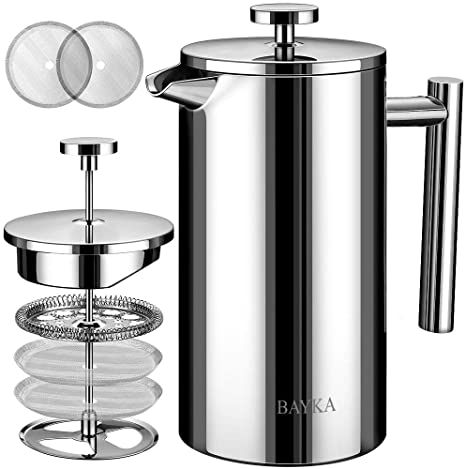 Primula 4 Cup Classic Coffee Press Borosilicate Glass And Stainless Steel Filter Dishwasher Safe 16 Oz Coffee Press French Presses Borosilicate Glass