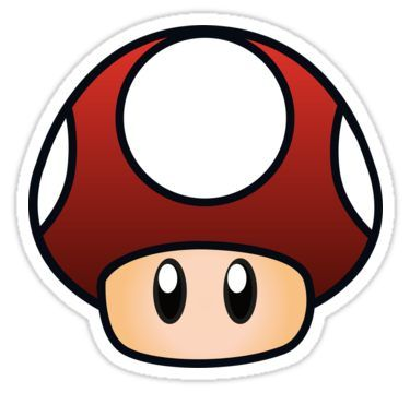 Super Mario Mushroom Sticker By Lauramazing Super Mario