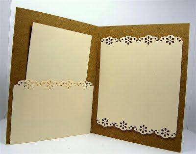 Как оформлять открытки внутри