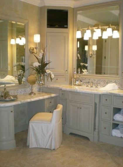 Makeup Table Corner Bathroom 55 Ideas Corner Bathroom Vanity Bathroom Design Bathroom Vanity