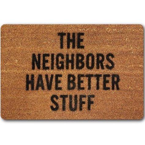 Funny Words Print Door Mat Doormat Indoor Outdoor Carpet Entrance