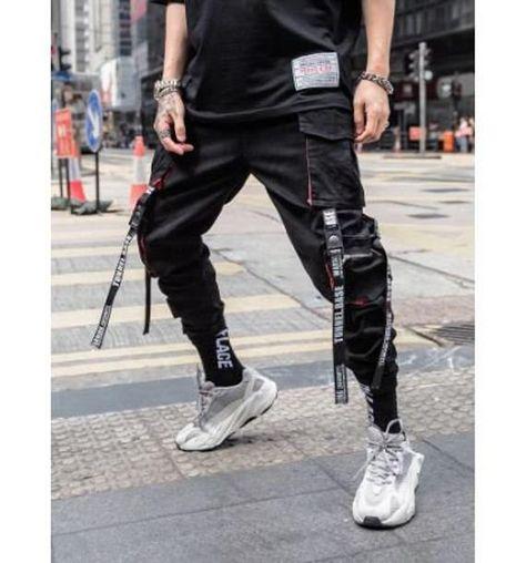 Pantalon Streetwear, Style Streetwear, Japanese Streetwear, Mens Streetwear Fashion, Mens Jogger Pants, Cargo Pants Men, Jogger Outfit, Style Hip Hop, Sweatpants Style