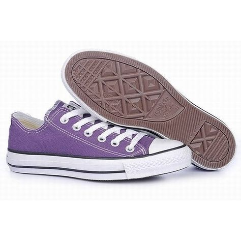aa6edbf8953 Converse All Star Chuck Taylor Purple Canvas Classic Sneakers Low (39 AUD)  ❤ liked on Polyvore featuring shoes