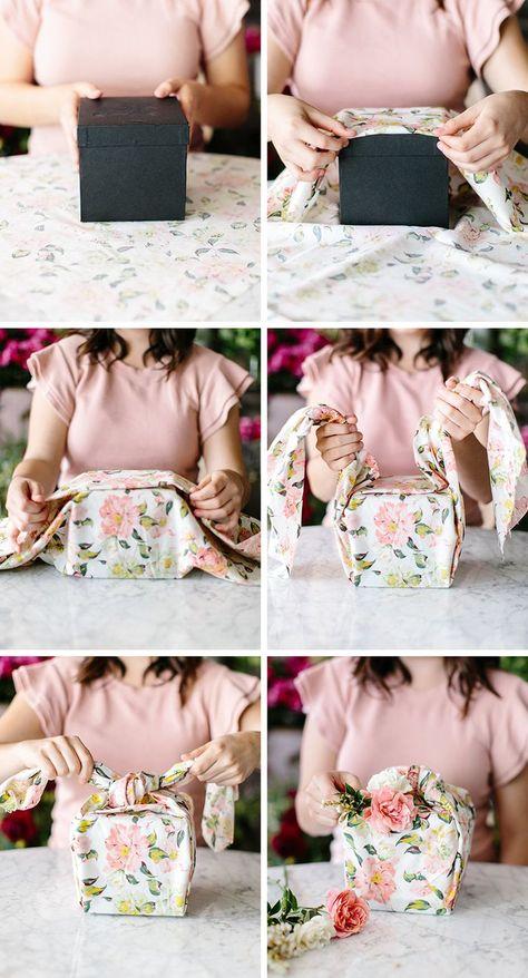 Furoshiki Wrapped Gift Box