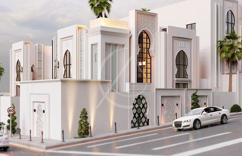 Modern Arabic Villa Architectural Design Taif Saudi Arabia Cas Modern Villa Design Morrocan Architecture Villa Design