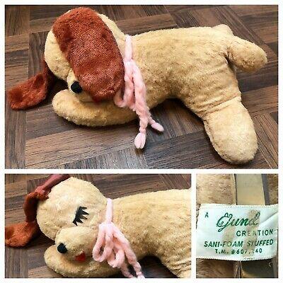 Vintage 1960s Gund J Swedlin Puppy Dog Sleeping 12 Plush Stuffed Toy Animal 50s Ebay Super Soft Teddy Bear Soft Teddy Bear Pet Toys