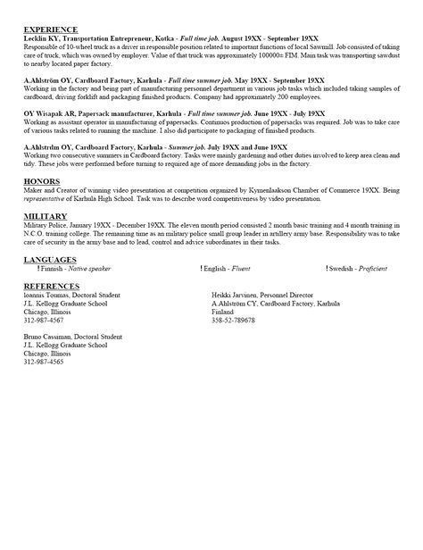 Sample College Student Resume Crouseprinting - http\/\/www - groundskeeper sample resumes