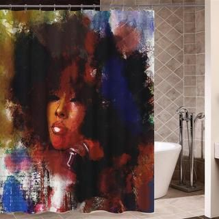 King Queen Shower Curtain Bathroom Shower Curtains Girls With Black Hair Curtains