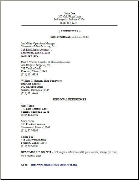 Reference Page Format Job References Letter Format Format In 2020 Reference Page For Resume Resume References Resume Design Template