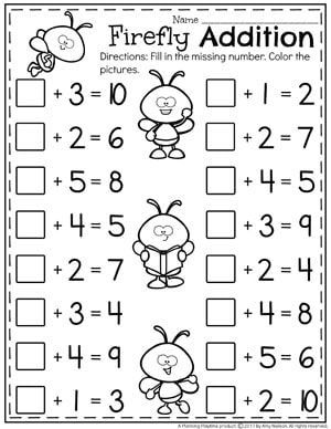 Addition Worksheets | Spring Activities | Tacky the Teacher
