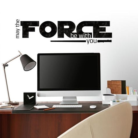 STAR WARS CLASSIC MAY THE FORCE PEEL AND STICK WALL DECALS
