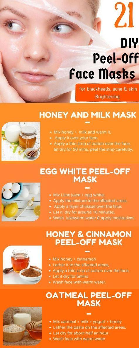 21 Peel Off Face Masks Homemadefacemaskspeel In 2019