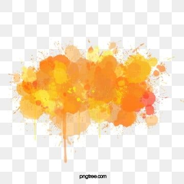 Element Spatter Inkjet Printing Orange Watercolor Color Splash Vector Watercolor Vector Color Vector Orange Color Splash Watercolor Splash Colorful Backgrounds