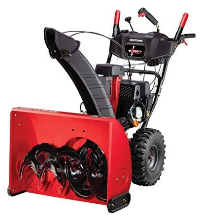 Craftsman 208cc Electric Start Two Stage Gas Powered Snow Blower With 26 Inch Clearing Width Gas Snow Blower Snow Blower Blowers
