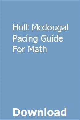Holt Mcdougal Pacing Guide For Math Repair Manuals Transmission Repair Owners Manuals