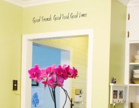 Apollos Products Good Friends Good Times Wall Vinyl Decals Small 24 X 5 Inches Good Food